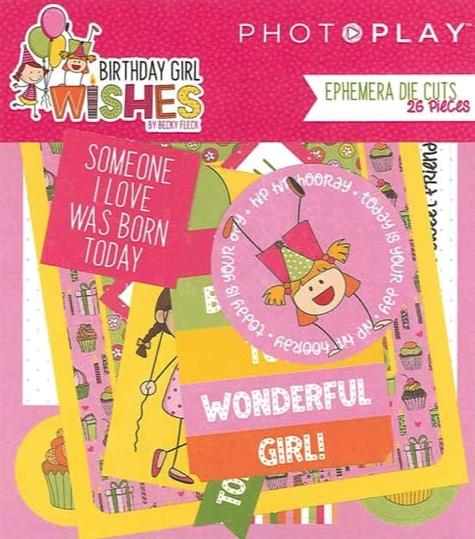 Birthday Girl Wishes Die Cut Scrapbooking Ephemera