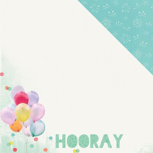 Party Hooray 12x12 Double Sided Scrapbooking Paper