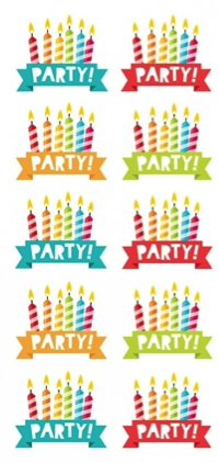 Birthday Party Scrapbooking Mini Stickers