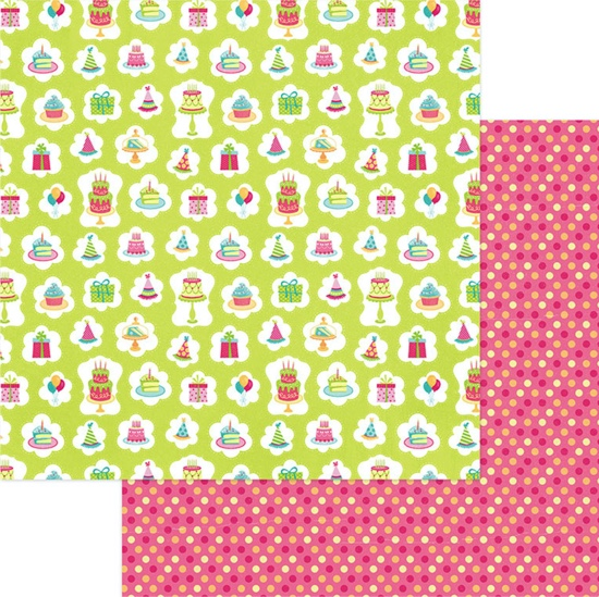 Birthday Presents 12x12 Double Sided Scrapbooking Paper