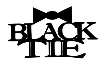 Black Tie Scrapbooking Laser Cut Title with bow tie