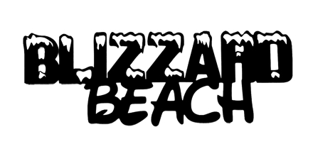 Blizzard Beach Scrapbooking Laser Cut Title