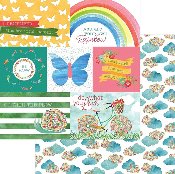 Bloom Double Sided 12x12 Scrapbooking Paper