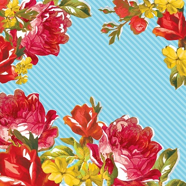 Bloomscape Bold Roses 12x12 Scrapbooking Paper