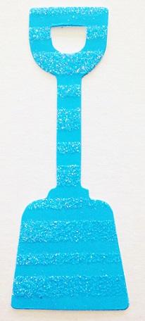 Blue Spade Glitter Die Cut Scrapbooking Sticker