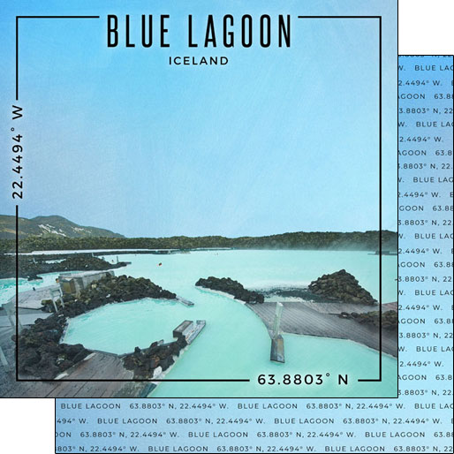 Blue Lagoon 12x12 Double Sided Scrapbooking Paper