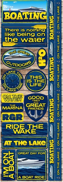 Boating Cardstock Scrapbooking Stickers and Borders
