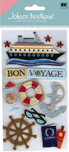 Bon Voyage Cruise Jolees Large 3D Scrapbooking Stickers