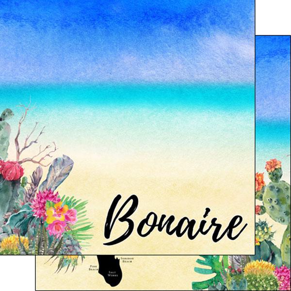 Bonaire Getaway 12x12 Double Sided Scrapbooking Paper