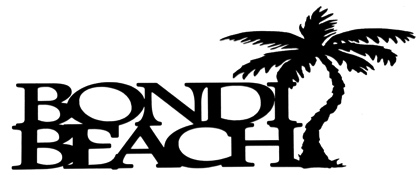 Bondi Beach Scrapbooking Laser Cut Title with Palm Tree