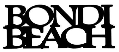 Bondi Beach Scrapbooking Laser Cut Title