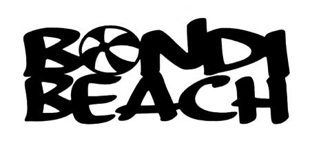 Bondi Beach Scrapbooking Laser Cut Title with Ball