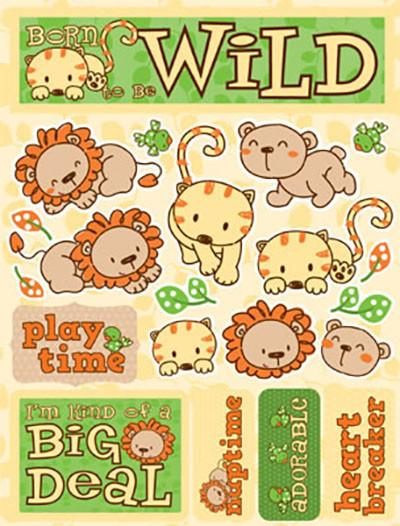 Born to be Wild 3D Scrapbooking Stickers