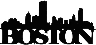 Boston Scrapbooking Laser Cut Title with Skyline