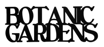 Botanic Gardens Scrapbooking Laser Cut Title