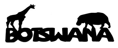 Botswana Scrapbooking Laser Cut Title with animals