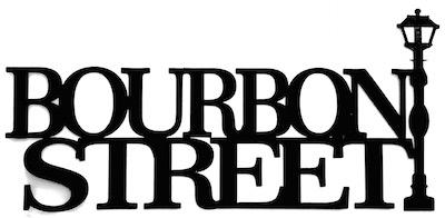 Bourbon Street Scrapbooking Laser Cut Title with Street Lamp