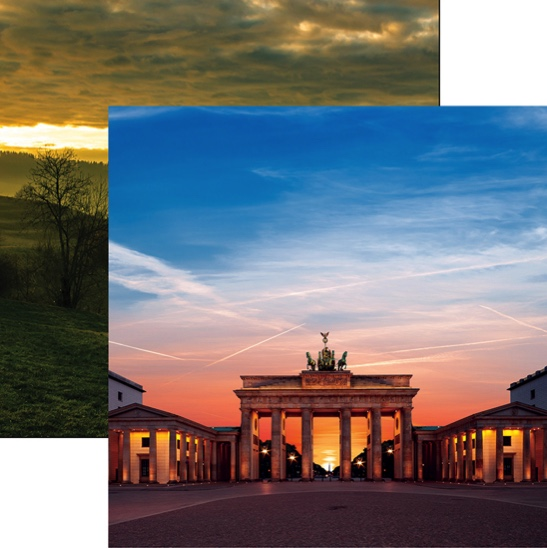 Brandenburg Gate 12x12 Double Sided Scrapbooking Paper