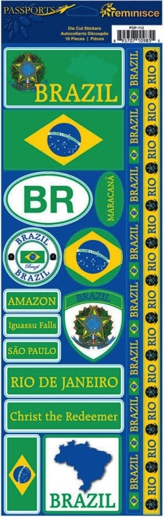 Brazil Cardstock Scrapbooking Stickers and Borders