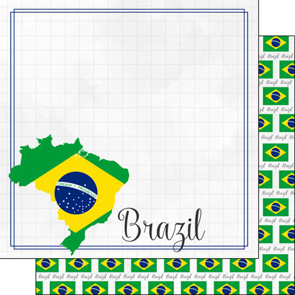 Brazil 12x12 Double Sided Scrapbooking Paper