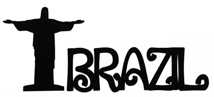 Brazil Scrapbooking Laser Cut Title With Statue