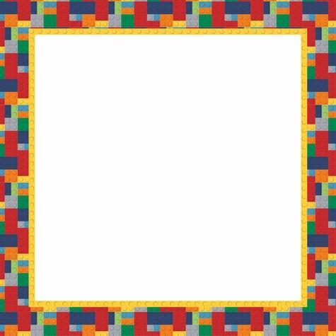 Lego Brick Builder Frame 12x12 Scrapbooking Paper