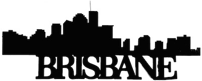 Brisbane Scrapbooking Laser Cut Title with Skyline