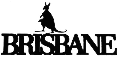 Brisbane Scrapbooking Laser Cut Title with Kangaroo