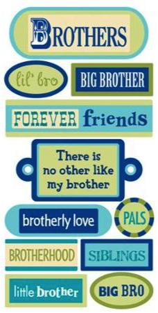 Brothers 3D Handmade Essentials Scrapbooking Stickers