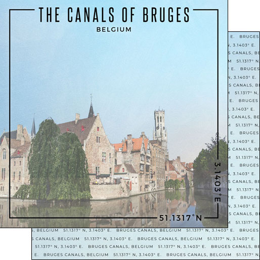 Bruges 12x12 Double Sided Scrapbooking Paper