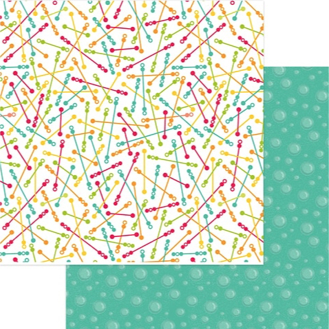 Bubble Wands 12x12 Double Sided Scrapbooking Paper