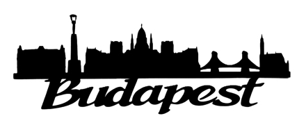 Budapest Scrapbooking Laser Cut Title with Skyline