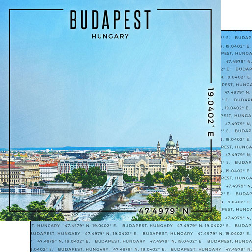 Budapest 12x12 Double Sided Scrapbooking Paper
