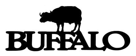Buffalo Scrapbooking Laser Cut Title with Buffalo