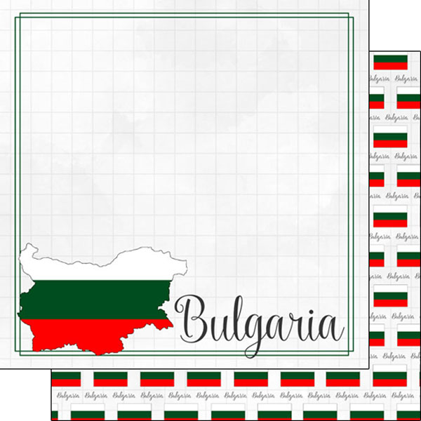 Bulgaria 12x12 Double Sided Scrapbooking Paper