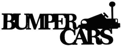 Bumper Cars Scrapbooking Laser Cut Title with Bumper Car