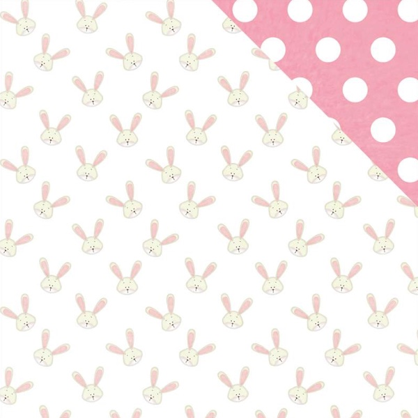 Bunny Ears 12x12 Double Sided Scrapbooking Paper