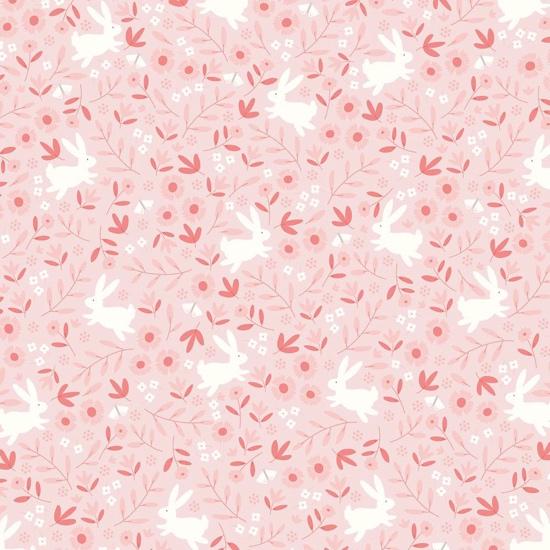 Pink Bunnies 12x12 Scrapbooking Paper