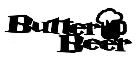Butter Beer Scrapbooking Laser Cut Title with Beer