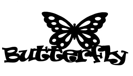 Butterfly Scrapbooking Laser Cut Title with Butterfly