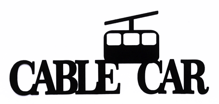 Cable Car Scrapbooking Laser Cut Title with cable car
