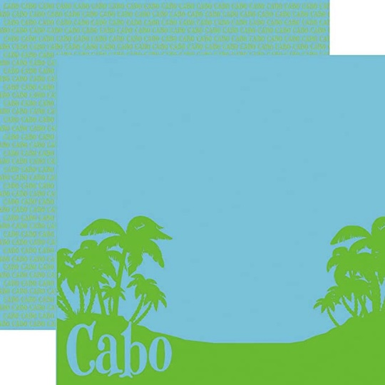 Cabo 12x12 Double Sided Scrapbooking Paper