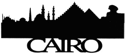 Cairo Scrapbooking Laser Cut Title with Skyline