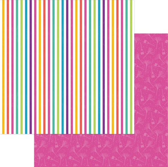 Cake Rainbow Sprinkles 12x12 Double Sided Scrapbooking Paper