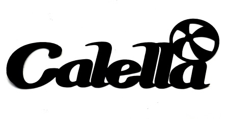 Calella Scrapbooking Laser Cut Title with beach ball