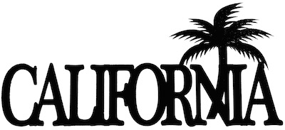 California Scrapbooking Laser Cut Title with Palm Tree