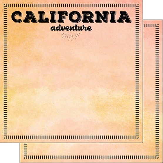 California Adventure 12x12 Double Sided Scrapbooking Paper