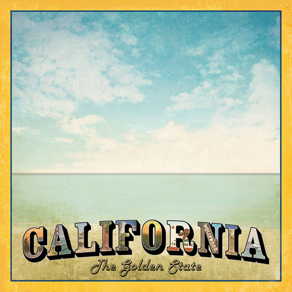 California Vintage 12x12 Scrapbooking Paper