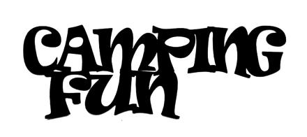 Camping Fun Scrapbooking Laser Cut Title