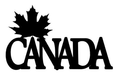 Canada Scrapbooking Laser Cut Title with maple leaf